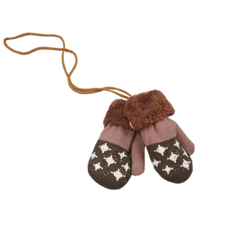 SAMGU Winter Warm Baby Gloves Full Fingers Boy Girl Mittens Cotton Knitting