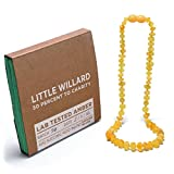 Lab Tested Amber Teething Necklace by Little Willard (Lemon Raw)