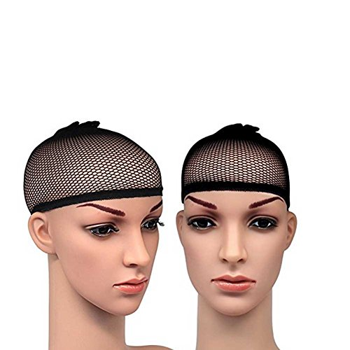 Fashion Lady Deluxe Closed Top Weave Cap (Pack of 2) Wig Cap Open End Black Mesh Net Liner Weaving Cap