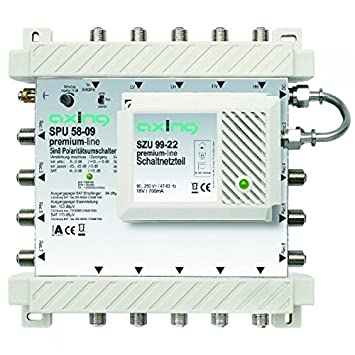 Axing SPU 58 – 09 Premium Line – Conmutador Múltiple de Satélite Activo, 5 en