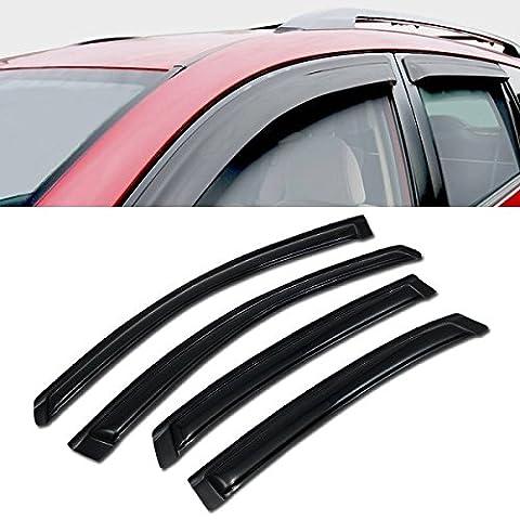 VXMOTOR 2006-2013 Chevy Impala Sun/Rain/Wind Guard Vent Shade Deflector Window Visors 4P - Impala Vent