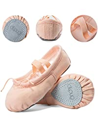 Ballet Shoe Ballet Slippers for Girls Toddler Canvas Dance Yoga Shoe (Toddler/Little Kid/Big Kid/Women)