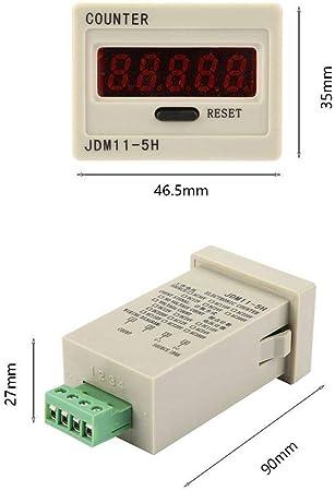 DC12V DIGITEN 0-999999 Digital LED Counter Electronic Counter JDM11-6H AC220V // DC36V // DC 24V // DC 12V Optional