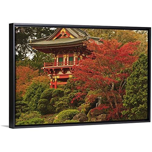 - Stuart Westmorland Floating Frame Premium Canvas with Black Frame Wall Art Print Entitled Japanese Tea Garden in Golden Gate Park; San Francisco, California, USA 30