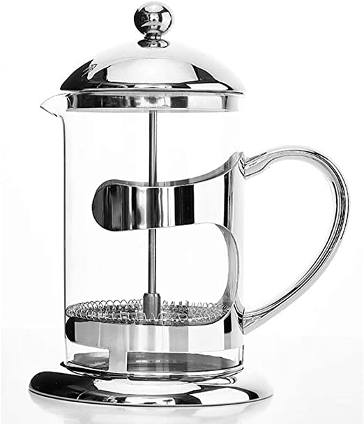 Olla de presión Francesa Cafetera de Acero Inoxidable Uso doméstico Tetera con Filtro de café Olla de Filtro de Vidrio Taza: Amazon.es: Hogar
