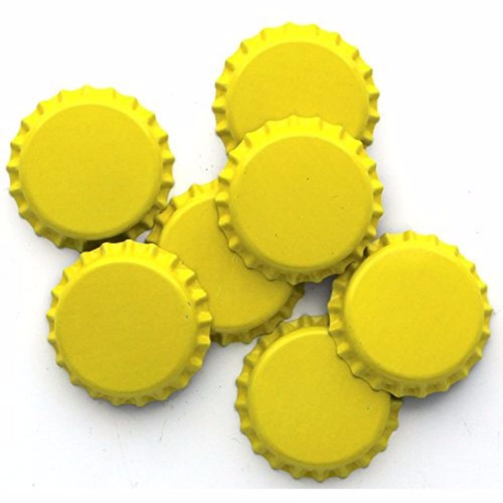 4 bags of 144 HOZQ8-888 Home Brew Ohio 576 Yellow Crown Caps With Oxy-Liner