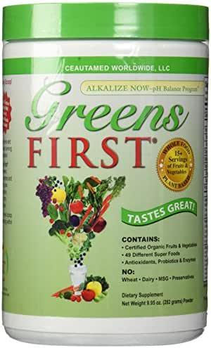 Greens First - Original - 30 Servings - Nutrient Rich-antioxidant Superfood, 49 Different Super Foods,phytonutrient & Antioxidant, Revitalize, Gluten Free, Vegan & Non-GMO - 9.95 Ounce, Pack of 2