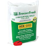 "2 Pack – Freezer Fresh 11"" x 50' Commercial Grade Vacuum Sealer Rolls. Food Storage Rolls Compatible with FoodSaver, Sous Vide and more"
