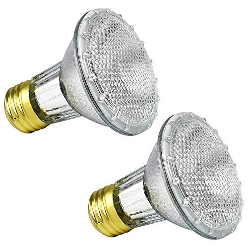 Luxrite LR20613 (2-Pack) 38PAR20/120V 38-Watt Eco Halogen Par20 Light Bulb, Dimmable, Equivalent to 50W Incandescent, 2900K, 500 Lumens, E26 medium base -