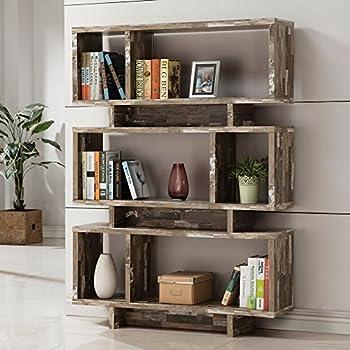 Coaster 3 Shelf Modern Bookcase in Salvaged Cabin