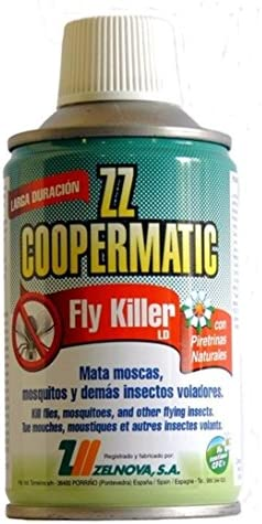 Zelnova Zeltia Coopermatic Insecticida en Aerosol con Piretrinas Naturales, Negro, 250 ml