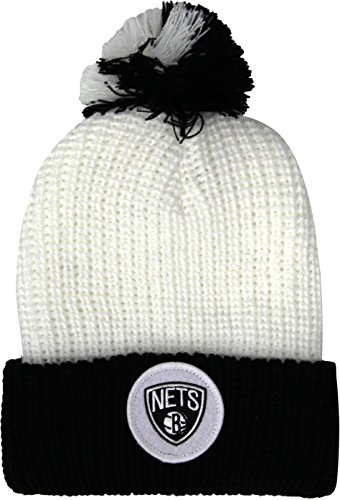 de Ducks amp; Mitchell Gorro White Mighty NHL KN34Z NETS NBA con diseño BROOKLYN borla Ness pqqzHx0