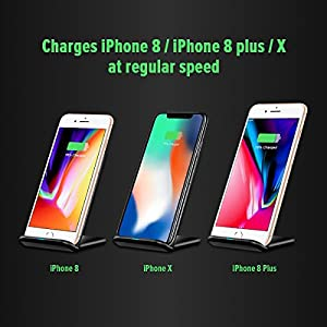 Qi Wireless Fast Charger - Best Charging Stand Pad For Apple iPhone 8/8 Plus, X, Samsung Galaxy Note s and Many More! - Cordless Phone Receiver Pads -Exclusive 2-Coil Cell Charger + 1 Year Warranty!