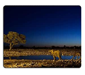 Elephants Giraffes wildlife savannahs animals Mouse Pads Customized Made to Order Support Ready 9 7/8 Inch (250mm) X 7 7/8 Inch (200mm) X 1/16 Inch (2mm) High Quality Eco Friendly Cloth with Neoprene Rubber Liil Mouse Pad Desktop Mousepad Laptop Mousepads Comfortable Computer Mouse Mat Cute Gaming Mouse pad