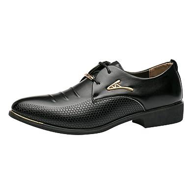 Hibote Schnürhalbschuhe Herren Schuhe Elegant Business