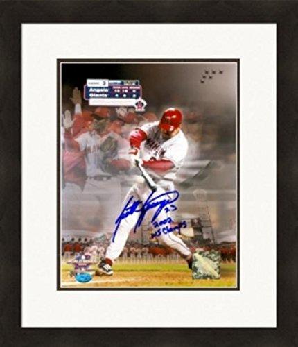 Autograph 223987 Anaheim Angels Inscribed 2002 World Series Champs Matted & Framed Scott Spiezio Autographed 2002 World Series 8 x 10 in. ()