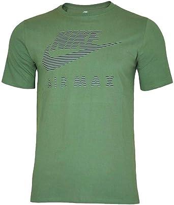 Nike Air MAX Application tee Hombre Camiseta algodón T-Shirt Deportiva Fitness Verde, Tamaño:M: Amazon.es: Ropa y accesorios