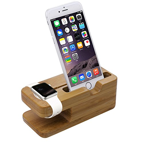 Apple Watch Stand Aerb iWatch Bamboo Wood Charging Stand Bracket Docking Station Stock Cradle Holder for Both 38mm and 42mm
