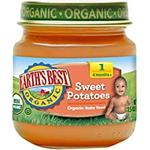 Earth's Best Organic Stage 1 Baby Food, Sweet Potatoes, 2.5 Ounce Jars, Pack...