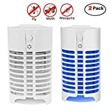 Indoor Insect Killer - Upgraded Plug-in Mosquito Killer Bug Zapper Coverage Mosquito Trap, Electronic Insect Killer Mini Mosquito Lamp, Eliminate Mosquitoes Flies Moths In the Dark Home 2 Pack