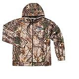 Dunbrooke Apparel NFL Seattle Seahawks Adult Trophy Realtree Xtra Polyester Tech Fleece Full Zip Hoodie, 5X, Camo