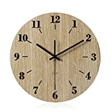 Imoerjia Creative Round Wooden Wall Clock Wall Clock in Living Room Bedroom Clocks,30Cm
