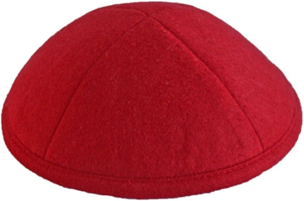 A1 Skullcap Linen Fabric Kippot Single or Bulk Kippah Optional Custom Imprinting Inside for Your Speacial Event /… Red