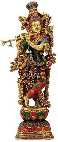Artvarko Brass Lord Krishna Idol Bhagwan Large Statue