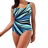Womens Swimsuits Plus Size Two Piece Criss Cross Monokini Print Bathing Suits Padded Bikini Set (XL, Multicolor)