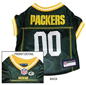 Green Bay Packers Dog Jersey - Yellow Trim from Pets First