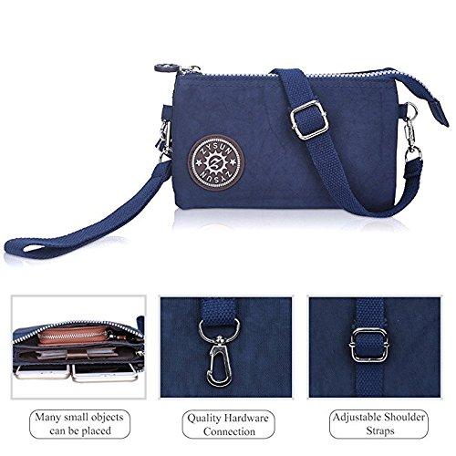 Purse Satchel Small Pouch Shoulder Organizer Black Wristlet Women Black Wallet Multi Cellphone Strap Crossbody Handbags Pocket Bag for with Clutch RRwOCq45x