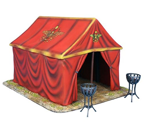 Roman Tent - First Legion ROM179 Imperial Roman Command Tent and 2 Braziers