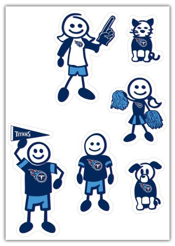 NFL Tennessee Titans Small Family Decal Set (Nfl Titans Tennessee Decal)