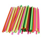 Assorted Colors Smoothie Straws, Pack of 200 Pieces