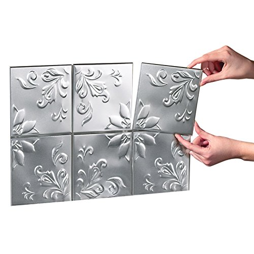 Tin Kitchen Backsplash Tiles Silver