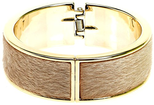 Royal Diamond Magnetic Designer Inspired Lock Bangle (Beige) - Inspired By Louis Vuitton