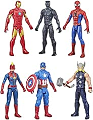 Hasbro Marvel Titan Hero Series Action Figure Multipack, 6 Action Figures, 12-Inch Toys, Inspired by Marvel Co