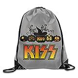 Sokie Happy Halloween Kiss Band Gym Drawstring Backpack/Travel Bag