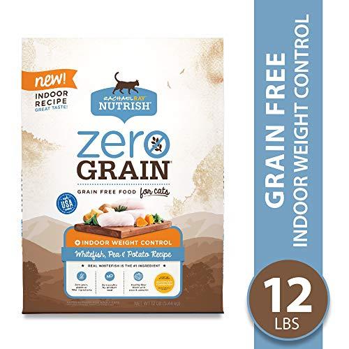 Rachael Ray Nutrish Zero Grain Natural Dry Cat Food, Whitefish & Potato Recipe, 12 Pounds, Grain Free, Indoor Weight Control