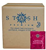 Stash Tea Cranberry Pomegranate Herbal Tea, 100 Count Box of Tea Bags in Foil (packaging may vary)