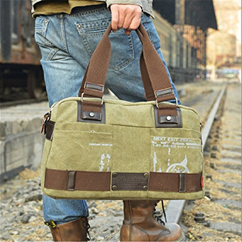 Crystalzhong Canvas Men's Business Package Travel Leisure Single Shoulder Knapsack Handbag by Crystalzhong (Image #2)