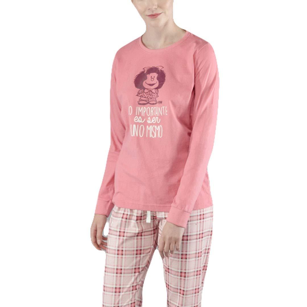 GISELA Pijama de Mujer Estampado Mafalda 2/1545 - Rosa, S