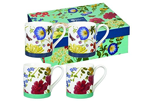 RHS Queens Butterflies and Bloom Larch Set of 4 Mug Cup in Presentation Box 8.45 fl oz ()