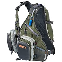 Anglatech Fly Fishing Backpack Vest Combo Chest Pack for...