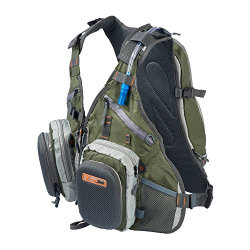 Anglatech Fly Fishing Backpack Vest Combo Chest Pack for Tackle Gear and Accessories, Includes Water...