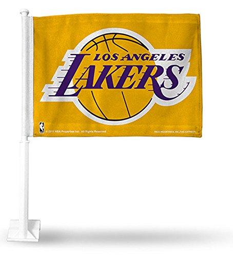 - yellow lakers flag New NBA Los Angeles LA LAKERS Yellow Car Truck Flag