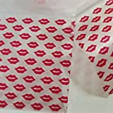 "2020 Apple Mini Ziplock Baggies Red, Orange & Pink Designs on Clear Background You Choose 100 Bags 2"" X 2"" (Red Lips)"