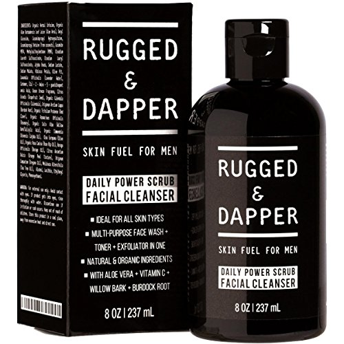 RUGGED-DAPPER--Facial-Cleanser-for-Men--8-oz-Daily-Foaming-Scrub-with-Natural-and-Certified-Organic-Ingredients--Premium-Quality-All-In-One-Face-Wash