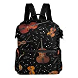 ALAZA Violin Music Note Casual Backpack Waterproof Travel Daypack Student School Bag