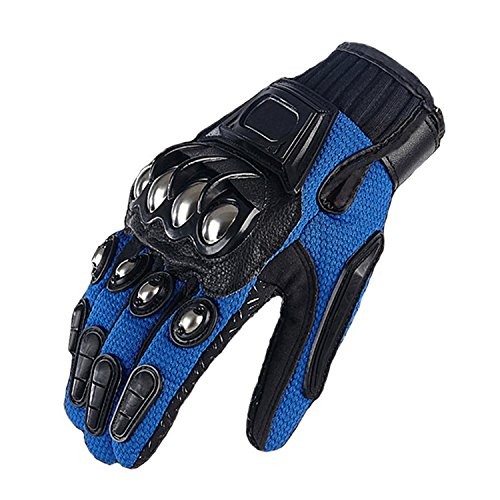 Men's Motorcycle Steel Knuckle Gloves Motorbike Racing Cycling Hunting Shooting Powersports Full Finger Gloves